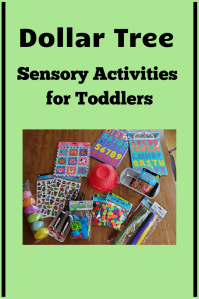 Dollar Tree Sensory Activities for Toddlers